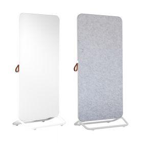 Chameleon Mobile dubbelzijdig whiteboard/prikbord 89 x 192 cm