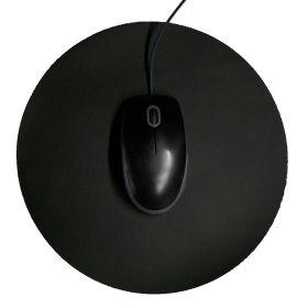 Tappetino per il mouse - Rotondo - Ø 26 cm - Nero