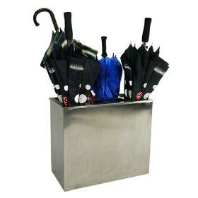 Portaombrelli per 8 ombrelli  - 425 x 255 x 500 mm - Acciaio INOX spazzolato