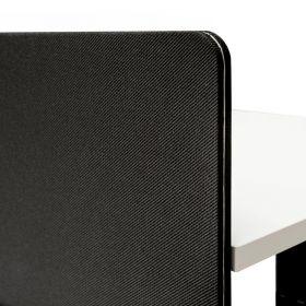 Pannello divisorio scrivania regolabile doppia 140x80 cm - Nero