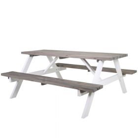 SenS-Line Sacha tavolo da picnic- Legno - Bianco