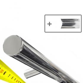 Corrimano Design  in acciaio INOX + supporti - Su misura - Lucido