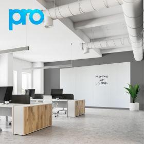 Pannello magnetico / lavagna bianca 200x400 cm (4 pannelli) - PRO - Rivestimento in poliestere