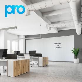 Pannello magnetico / lavagna bianca 200x500 cm (5 pannelli) - PRO - Rivestimento in poliestere