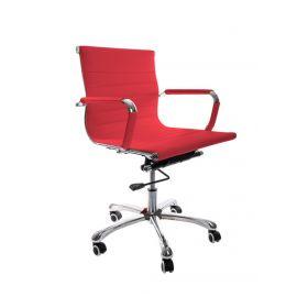 Sedia da ufficio Valencia – Pelle sintetica in PU - Rossa