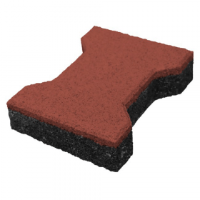 mattoncino in gomma 43 mm- rosso