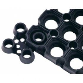Connettore tappeto in gomma forata - standard