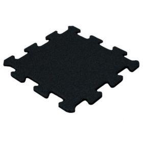 Mattonella in gomma per pavimenti sportivi15 mm - 50 x 50 cm - Nera - Granulato fine