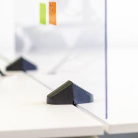 Pannello divisorio / Schermo in plexiglass per scrivania - Incl. morsetti per doppia scrivania - 58x75 cm