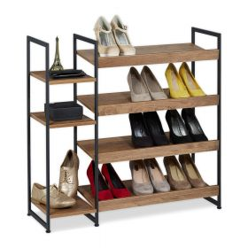 Scarpiera legno / acciaio - 15 paia di scarpe