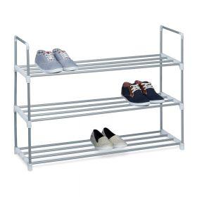 Scarpiera in acciaio- 3 ripiani - 12paia di scarpe