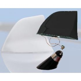 aluminium haaienvin antenne zwart