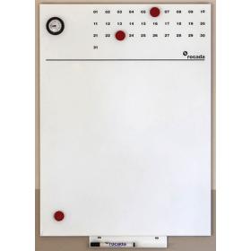 Skin lavagna bianca magnetica 55x75 cm – Con indicazione ora e mese