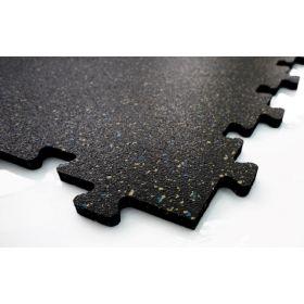 Mattonella per pavimento sportivo - Puzzel  - 50x50cm 8mm - Blu