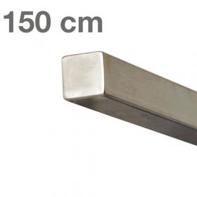 Corrimano squadrato in acciaio inox - 150 cm