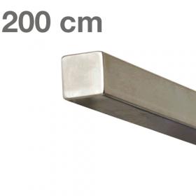 Corrimano squadrato in acciaio inox - 200 cm