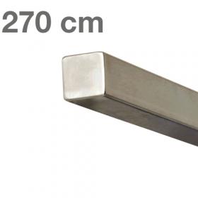Corrimano squadrato in acciaio inox - 270 cm