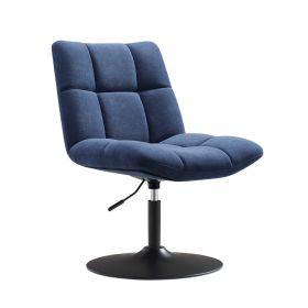 Poltrona design Lille -  Velluto blu scuro