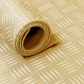 Stuoia/tappetino in gomma su rotolo -Motivo mandorlato-3 mm beige-Largo 150 cm