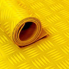 Stuoia/tappetino in gomma su rotolo -Motivo mandorlato-3 mm - Giallo-Largo 150 cm