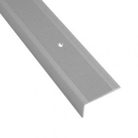profilo in alluminio per scale con motivo a coste
