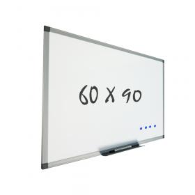 Lavagna bianca con sitema di montaggio a parete 60x90 cm – Magnetica