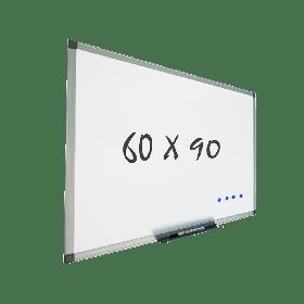 lavagna bianca con cornice 60x90 cm - magnetica