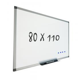 Lavagna bianca con sitema di montaggio a parete 80x110 cm – Magnetica