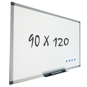 Lavagna bianca con sitema di montaggio a parete 90x120 cm – Magnetica
