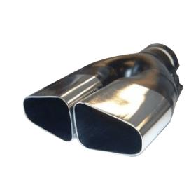 terminale doppio del tubo di scarico
