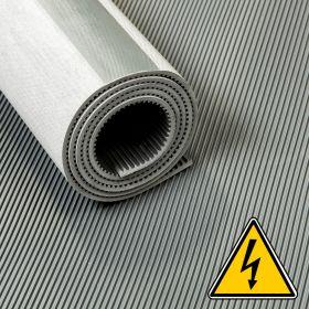 Stuoia/ tappetino VDE anti scossa elettrica/ isolante/  su rotolo- 4,5 mm 50 Kv -Largo 100 cm - Al metro