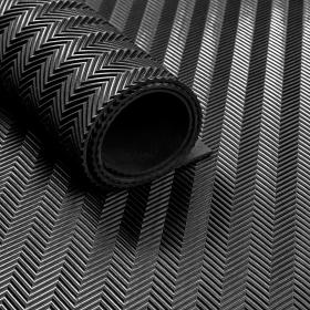 Stuoia/tappetino in gomma su rotolo-Motivo a spina di pesce- 3 mm- Largo 120 cm