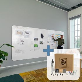 Chameleon pannello lavagna bianca a a parete senza cornice - Completo (4 pannelli)+ starterkit