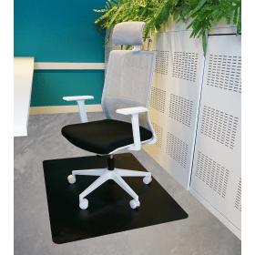 Protezione per pavimenti PVC - Superfici dure- 90x120 cm-Nero