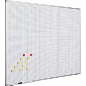 Lavagna bianca con griglia 2x2 - 90x120  cm