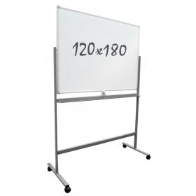 Lavagna bianca magnetica 120x180 cm –Doppia superficie- Telaio mobile