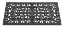 Zerbino in gomma classico con intarsio - rettangolare - 45x75 cm