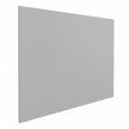 Lavagna magnetica senza profilo - 45x60 cm - Grigia